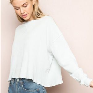 NWT Brandy Melville White Laila Thermal